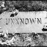 Grave marker for Unknown, Mount Zion Cemetery, St. Paul, MN